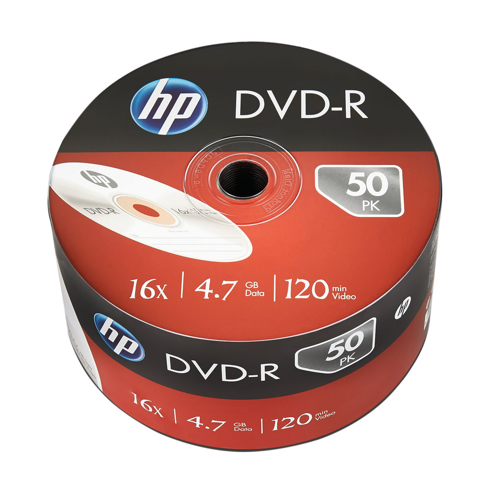 HP DVD-R 16X 4Point7GB Wrap 50 Pack