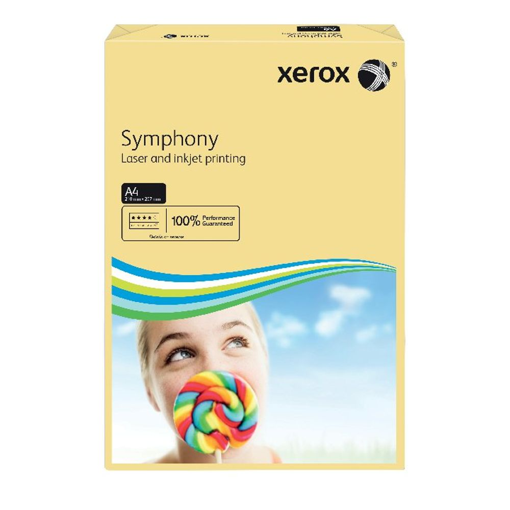 Xerox Symphony Pastel Tints Ivory Ream A4 Paper 80gsm