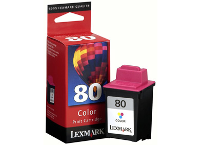 Lexmark 12A1980 Lexmark 80 colour ink cartridge ORIGINAL