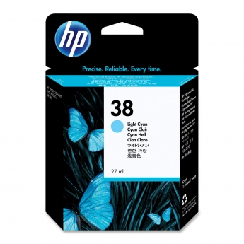 Hp 38 Light Cyan Ink Cartridge - HP C418A Light cyan