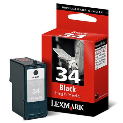 Lexmark 34 Black  XL Ink Cartridge Original