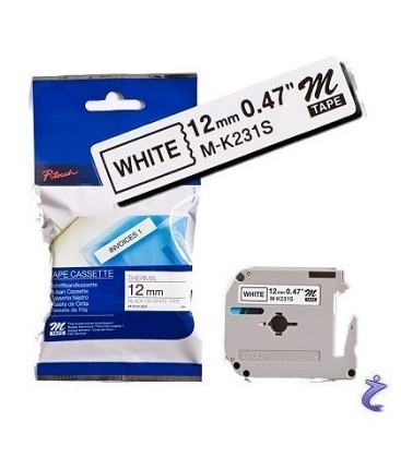 Brother MK231BZ black on white tape 12mm original Brother