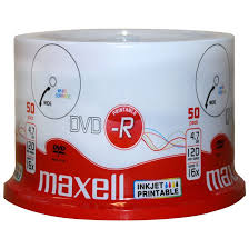 Maxell Full Printable DVD-R 16x 50PK Blank Media
