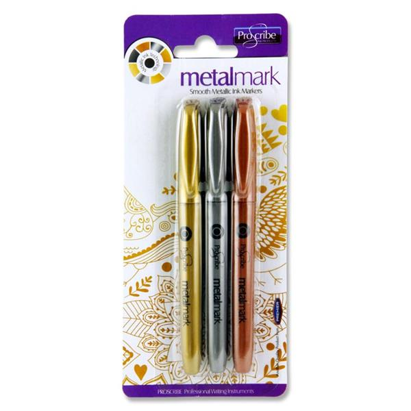 SCRIBE CARD 3 METAL MARK METALLIC MARKERs