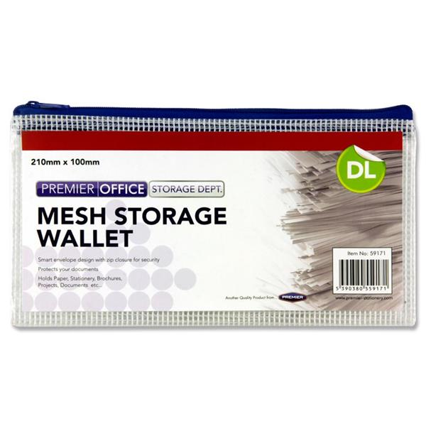 PREMIER OFFICE DL MESH STORAGE WALLET