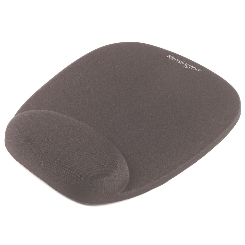 Kensington Foam Mouse Pad Black with Cushioned Wrist Rest