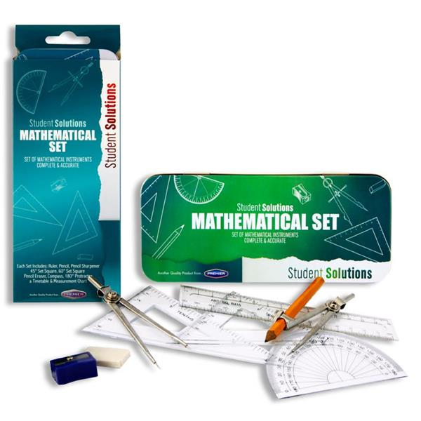 STUDENT SOLUTIONS 9pce MATHS SET  GREEN