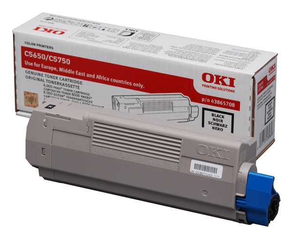 Oki 43865708 Black Toner - Oki 5650 Black Toner Original