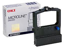 OKI Black Printer Ribbon for 520B  Printer
