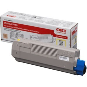 Oki 43865721 Yellow Toner Original - Oki 5950 Yellow Toner