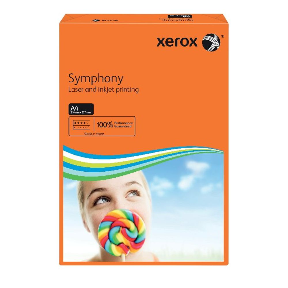 Xerox Symphony A4 Paper 80gsm Deep Tints Orange Ream