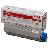Oki 43872305 Yellow - Oki 5650 Yellow Toner Original