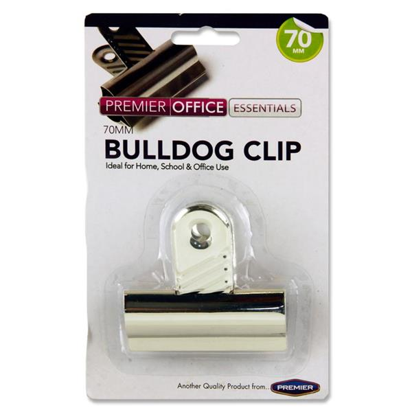 PREMIER OFFICE 70mm BULLDOG CLIP CARDED