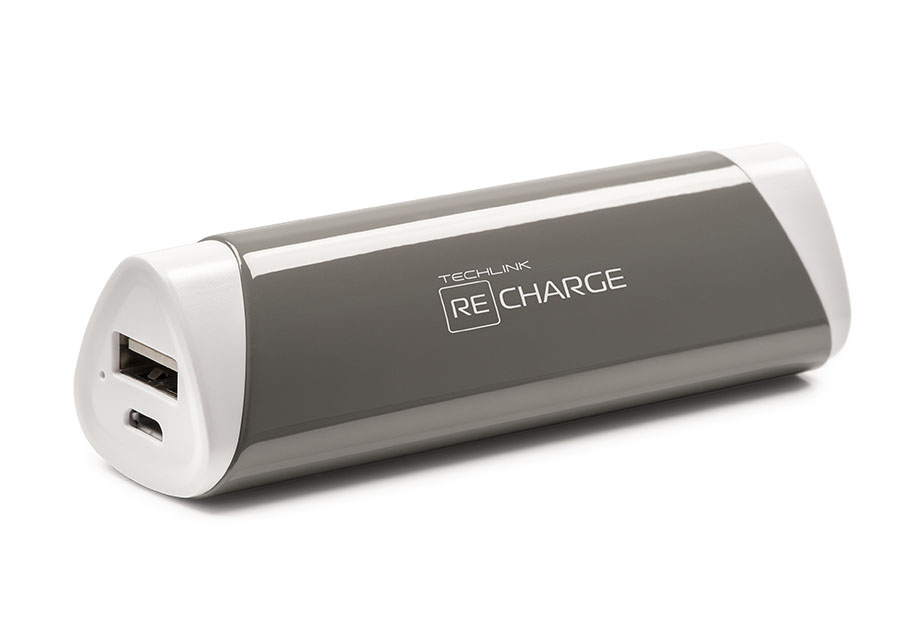 Techlink Grey Recharge 2 Point 6 Amp Portable Power
