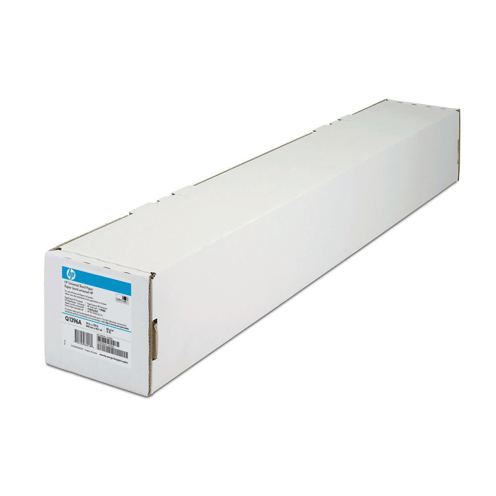 HP White Universal Bond Paper 610mm Continuous Roll 80gsm Q1396A