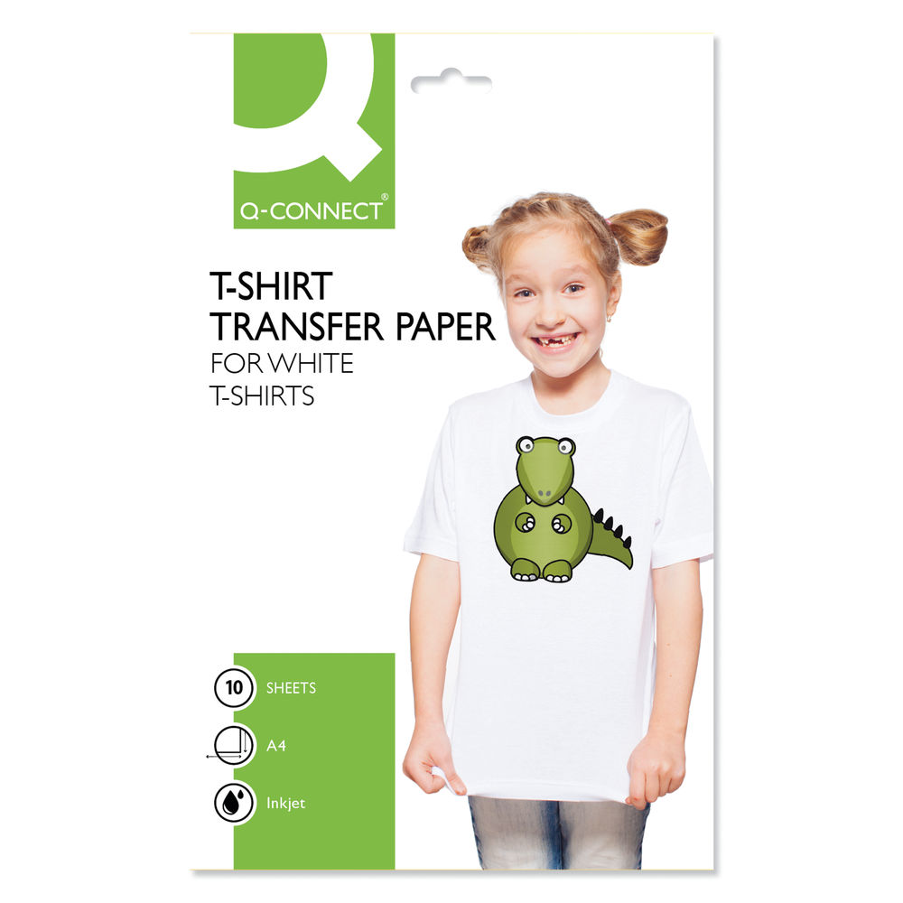 Q-Connect T-Shirt Transfer Paper Pack of 10 KF01430