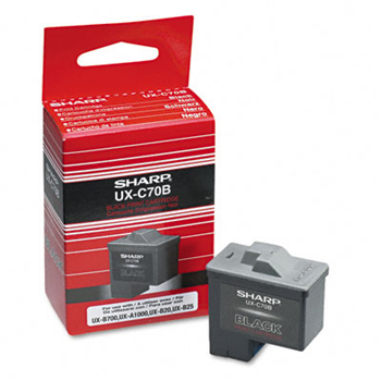 Sharp UX-C70B Black Ink Cartridge - Original