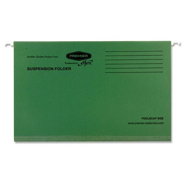 PREMIER FOOLSCAP SUSPENSION FILE  DARK GREEN