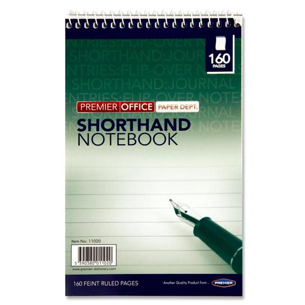 PREMIER OFFICE 160pg REPORTERS SHORTHAND NOTEBOOK