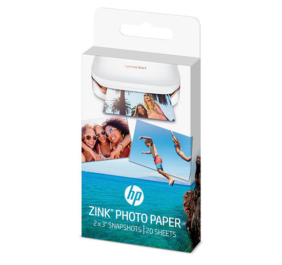 HP ZINk Sticky-backed Photo Paper-20 sheets 2 x 3