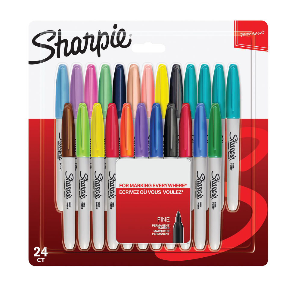 Sharpie Marker Fine Assorted Pack of 24