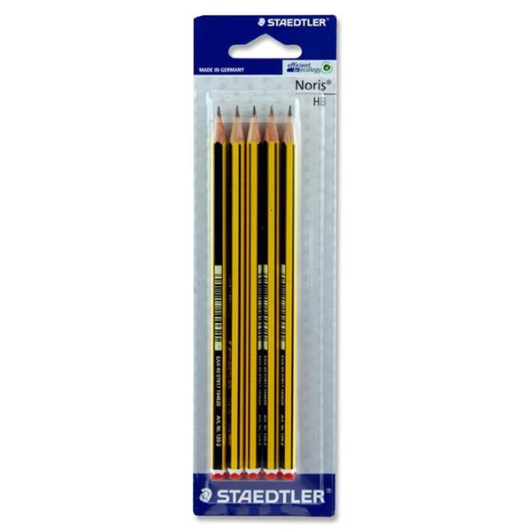 STAEDTLER CARD 5 HB PENCILS