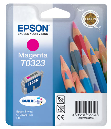Original Epson T0323 Magenta Ink Cartridge
