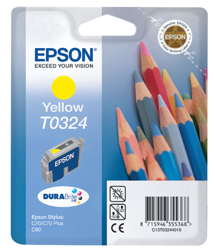 Original Epson T0324 Yellow Ink Cartridge