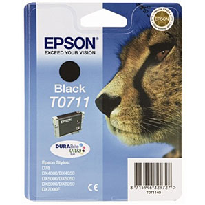 Epson TO711 Black Ink Cartridge Original