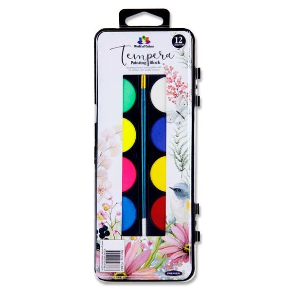 Tempera Painting Block 12 Colour