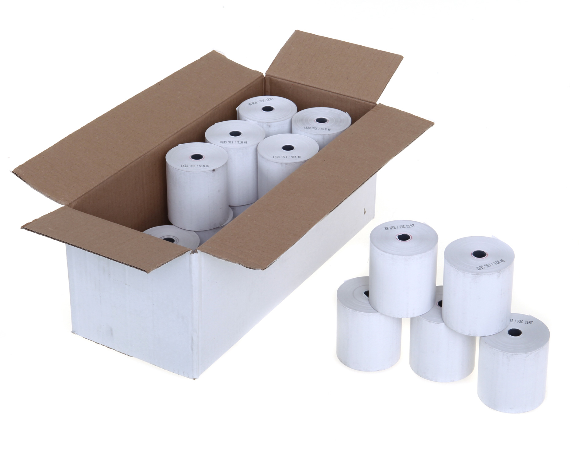 Thermal paper roll 57mmx55mm 50 per box
