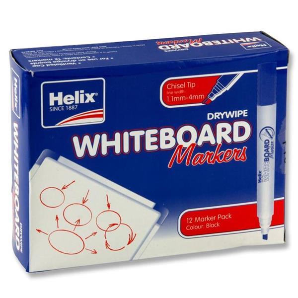 HELIX CHISEL TIP WHITEBOARD MARKER BLACK