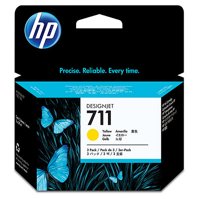 HP 711 yellow ink cartridge original CZ132A