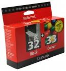 Lexmark 32 And Lexmark 33 Black and Colour Print Cartridge
