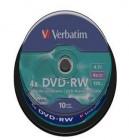 DVD 10 Pack Plus RW Verbatim