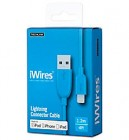 Techlink IPhone Blue Lighting Cable 4 FT Original IPhone Charger