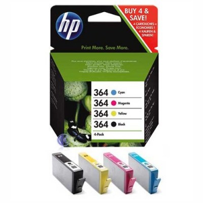 HP 364 Multi Pack Original - Black Cyan Magenta Yellow