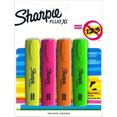 Sharpie Fluo XL Highlighters 4 Pack